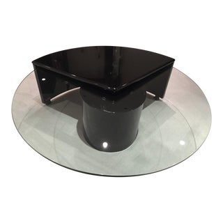 Rougier Postmodern Lacquer & Glass Coffee Table