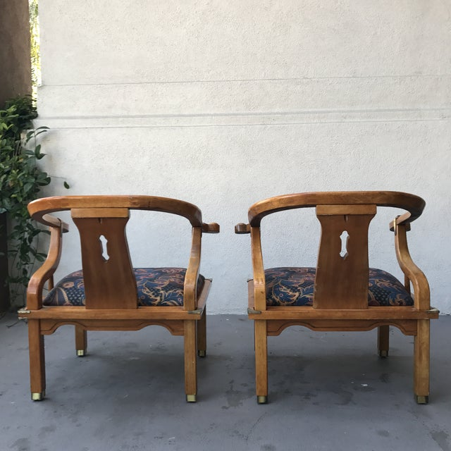 Mid-Century Regency Horseshoe Chairs - A Pair - Image 6 of 7