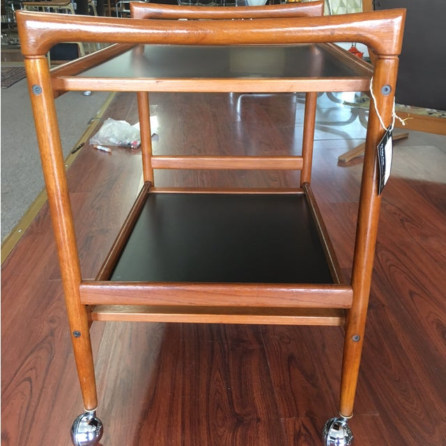 Dyrlund Mid-Century Modern Danish Teak Bar Cart - Image 6 of 8