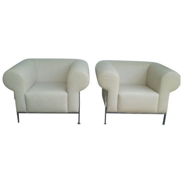 Image of Jack Cartwright Club Chairs - A Pair