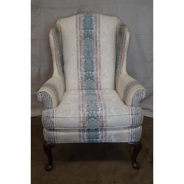 Highland House Hickory Queen Anne Wing Chair - Image 2 of 10