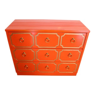 Dorothy Draper Style Lacquered Chest or Dresser