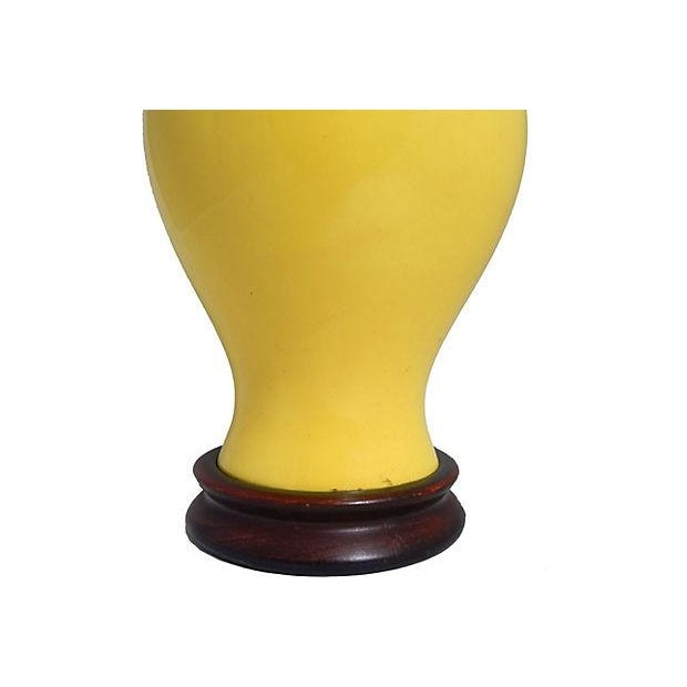 Image of Yellow Ginger Jar Table Lamp