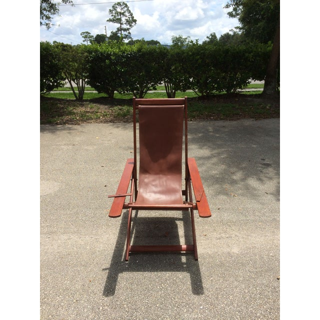 Antique Ocean Liner Folding Deck Chair - Image 3 of 11
