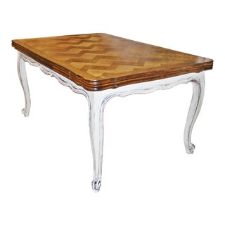 French Country Draw-Leaf Table