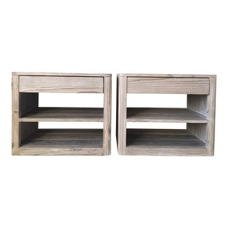 Cfc Whitewashed Pine Bedside Tables - a Pair
