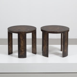 The Circular Bronze Collection Side Tables by Talisman Bespoke