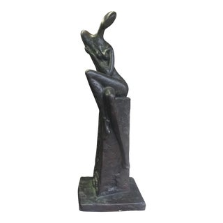 Bronze and Resin Nude Sculpture