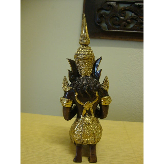 Image of Gilt Bronze Kneeling Thai Princess Figurine