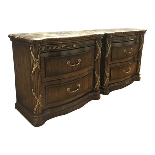 Philippe Langdon Marble Top Nightstands
