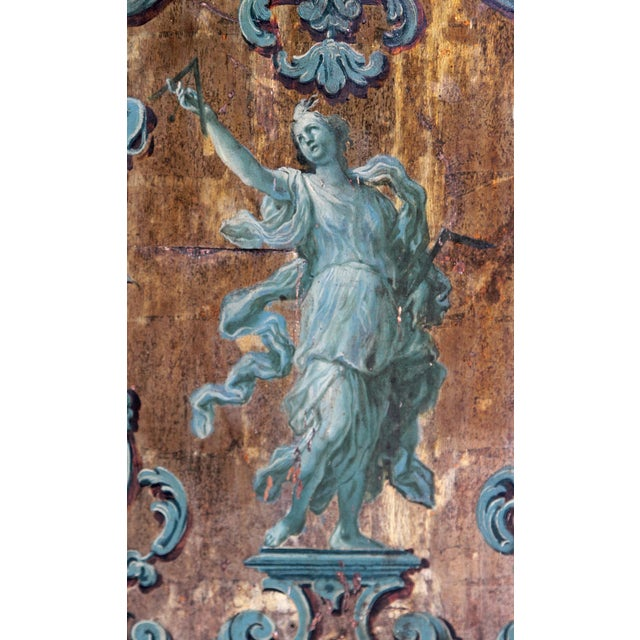 18th century Italian Neoclassical Paint and Parcel Gilt Panels / Roman Goddesses / Muses - Image 9 of 10