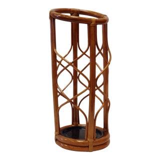 Mid-Century Bamboo Umbrella Stand