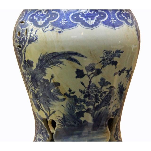 Chinese Blue & White Porcelain Stool - Image 2 of 8