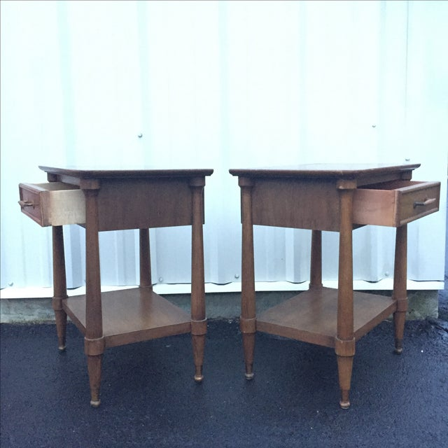 Mid-Century End Tables With Single Drawer - Pair - Image 8 of 12