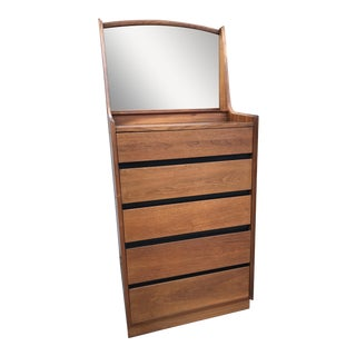 Mid-Century Dillingham Walnut Highboy Dresser