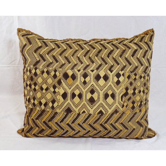 Vintage Embroidered Kuba Cloth Pillow - Image 2 of 4