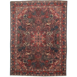 Hand Knotted Persian Tabriz Rug - 9′6″ × 12′10″