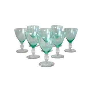 Aqua Cocktail Stems - Set of 8