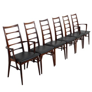 Koefoed Hornslet Danish Modern Rosewood Dining Chairs - Set of 6