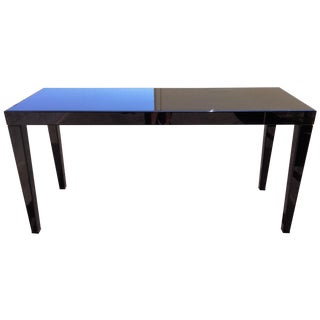 Large Black Beveled Mirror Hall Table