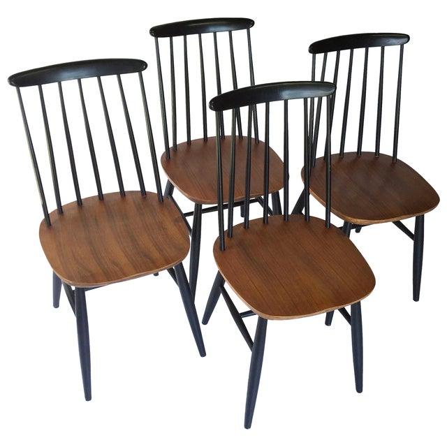 danish teak tapiovaara style dining chairs s 4 chairish