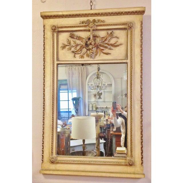 Vintage LXVI Style Painted Trumeau Mirror - Image 2 of 4