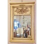 Image of Vintage LXVI Style Painted Trumeau Mirror