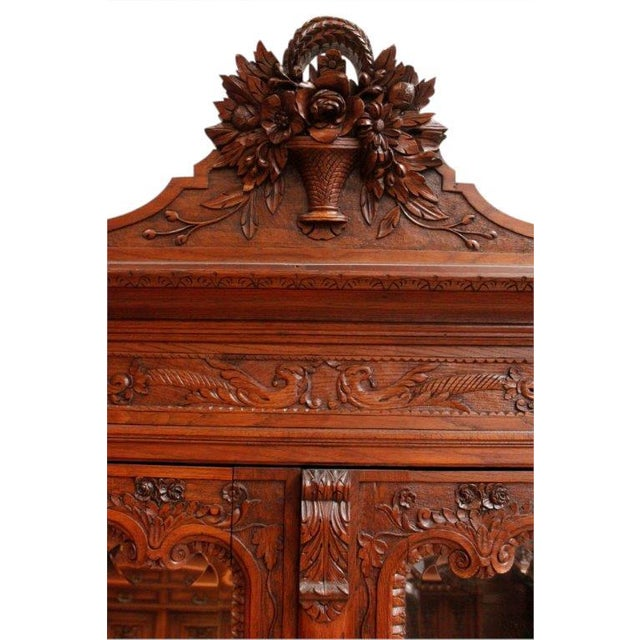 Antique Armoire Normandy French Country Birds - Image 7 of 8