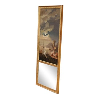 Early 19th Century French Hand-Painted Vernet Style Trumeau Mirror