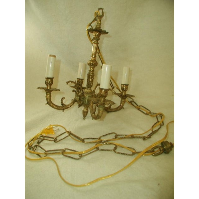 Early 20th-C. Spanish Brass Chandelier - Image 4 of 7
