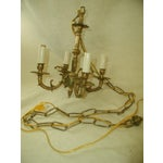 Image of Early 20th-C. Spanish Brass Chandelier