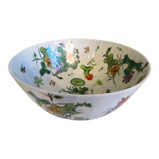 Vintage Chinese Porcelain Centerpiece Bowl