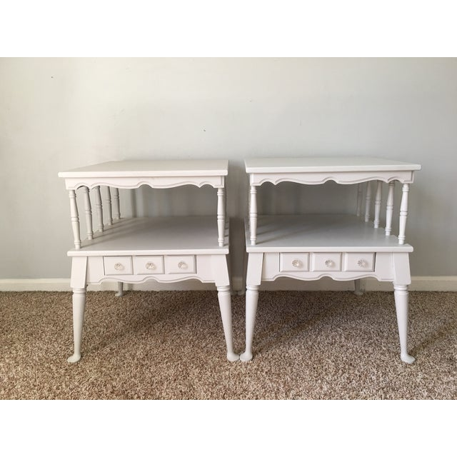 Vintage Transitional Nightstands - Pair - Image 2 of 5