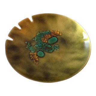 Vintage Enamel on Copper Ashtray