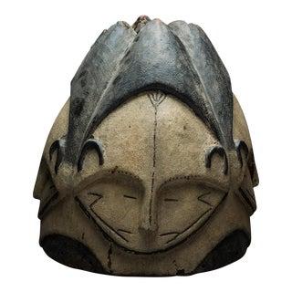 Fang Wooden Polychrome Ngontang Helmet Mask
