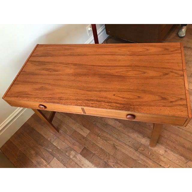 Image of Two Drawer Danish Teak Desk