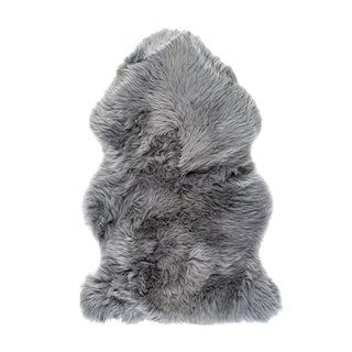 Grey New Zealand Sheepskin Rug or Throw - 2' X 3'