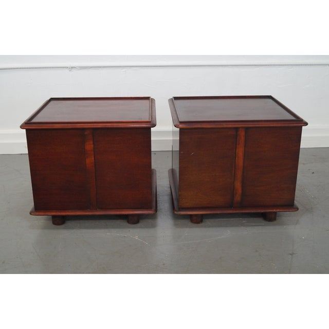 Paul Frankl Johnson Furniture Mahogany Station Wagon Nightstands- A Pair - Image 4 of 10