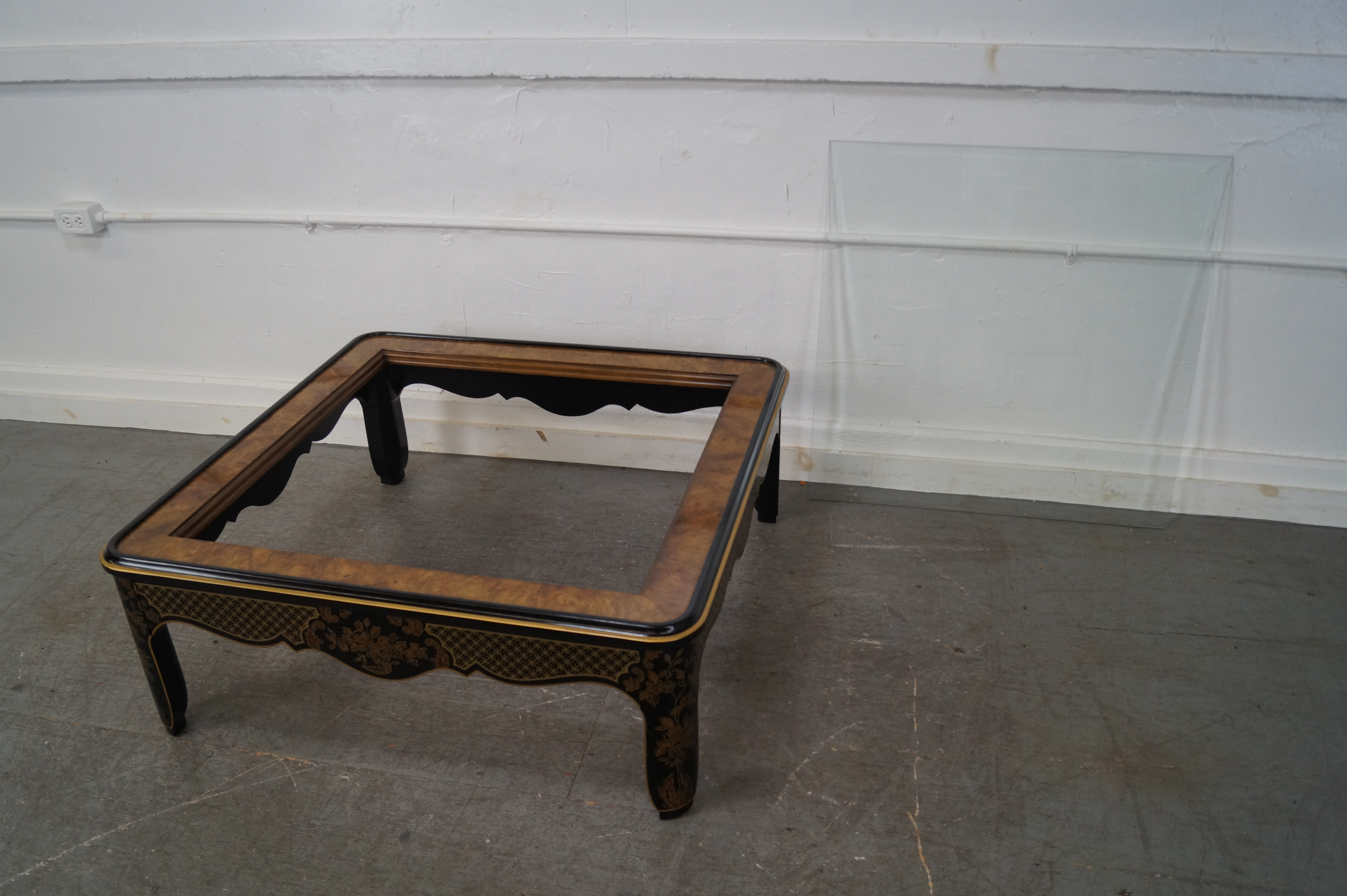 Drexel Heritage Square Burl Wood Coffee Table   Image 4 Of 10