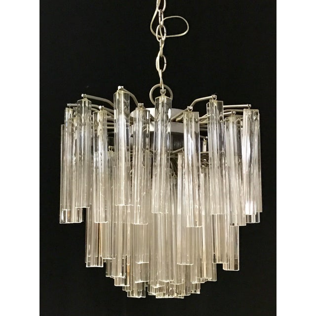 Venini Crystal Chandeliers - A Pair - Image 4 of 11