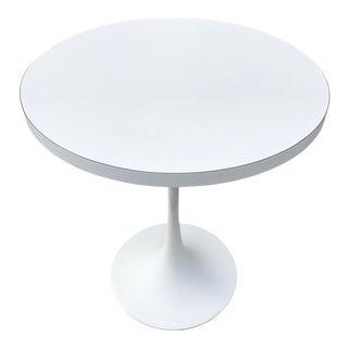 Mid-Century White Tulip Side Table