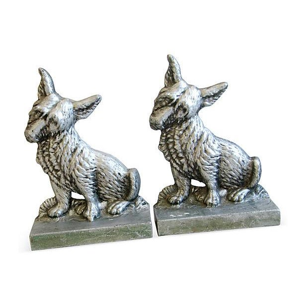 1960s Terrier Dog Bookends- A Pair - Image 4 of 6