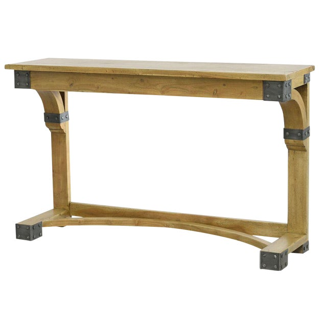 Sarreid ltd armory console table chairish for Table th width ignored