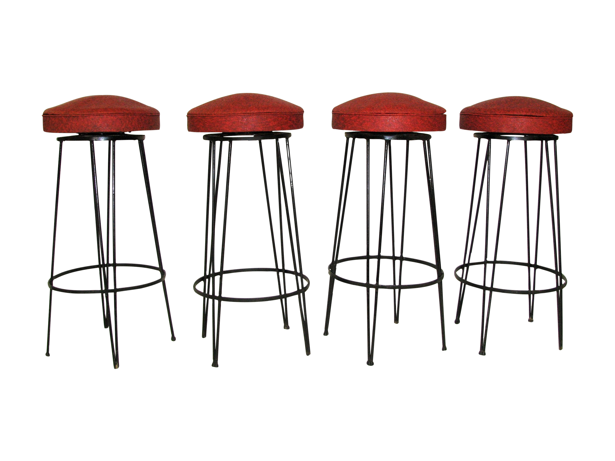 1950s Weinberg Wrought Iron Cocktail Bar Amp Stools Chairish