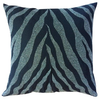 Metallic Embroidered Pillow Cover