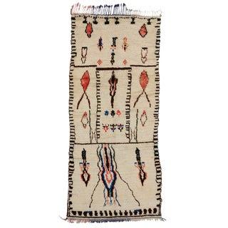 "Vintage Berber Moroccan Azilal Rug - 4'4"" x 9'6"""