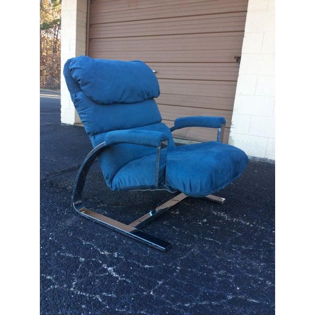 Milo Baughman Chrome Lounge Chair & Ottoman - Image 5 of 7