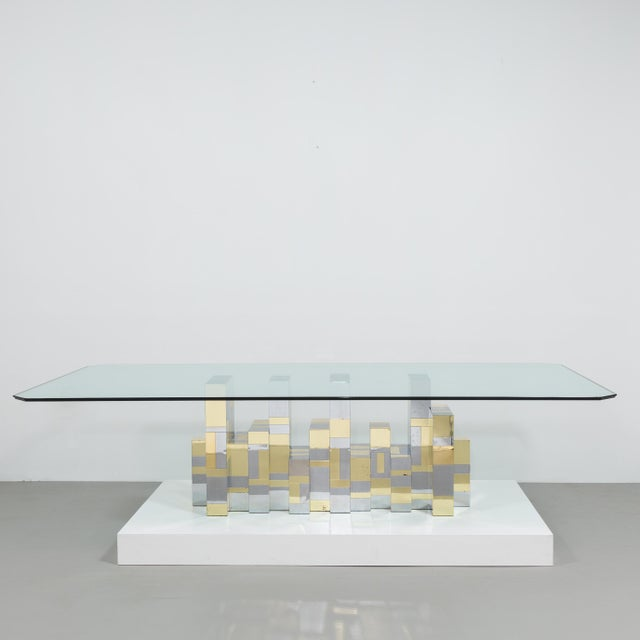 A Paul Evans Cityscape Pedestal Dining Table Base 1970s - Image 4 of 10