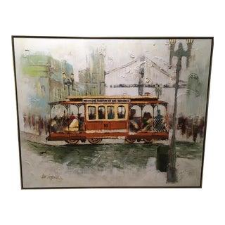 Mid-Century Lee Reynolds San Francisco Street Car Painting