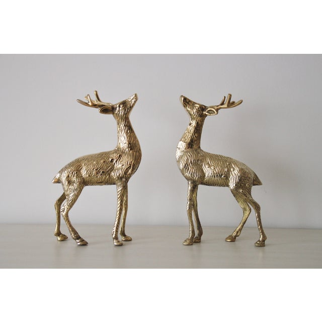 Solid Brass Reindeer - A Pair - Image 2 of 4